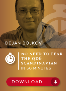 No need to fear the Qd6 Scandinavian