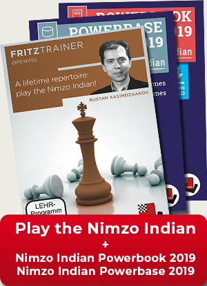 A lifetime repertoire: Play the Nimzo Indian + Nimzo Indian Powerbook 2019 & Nimzo Indian Powerbase 2019