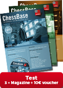 ChessBase Magazine taster package including 10 € Voucher for first-time subscribers!**