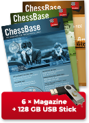 ChessBase Magazine one year subscription - original ChessBase USB stick with 128 GB *