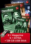 ChessBase Magazine annual subscription plus EXTRA - original ChessBase USB stick with 128 GB *