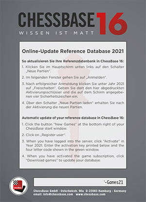 Online-Update Reference Database 2021