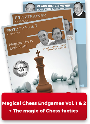 Magical Chess Endgames Vol. 1 & 2 + The magic of chess tactics