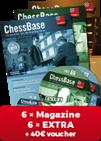ChessBase Magazine ¡Suscripción anual con EXTRA y bono de regalo 40 EUR!*