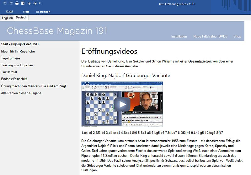 ChessBase Magazin 191